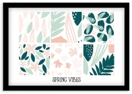 Plakat w ramce, Spring vibes - czarna ramka, 30x20 cm
