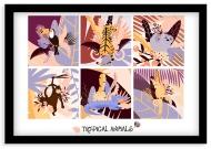 Plakat w ramce, Tropical animals - czarna ramka, 30x20 cm