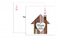 Fotokartki Home sweet home, 14x14 cm