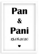 Plakat w ramce, Pan i Pani - biała ramka, 20x30 cm