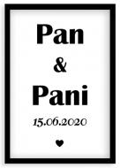 Plakat w ramce, Pan i Pani - czarna ramka, 20x30 cm
