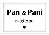 Plakat w ramce, Pan i Pani - biała ramka, 30x20 cm