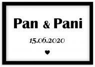 Plakat w ramce, Pan i Pani - czarna ramka, 30x20 cm