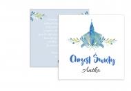 Fotokartki Chrzest niebieski, 14x14 cm