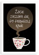 Plakat w ramce, Kawa - biała ramka, 20x30 cm