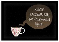 Plakat w ramce, Kawa - czarna ramka, 30x20 cm