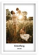 Plakat w ramce, Twój projekt rodzinny - biała ramka, 20x30 cm