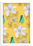 Plakat w ramce, Botaniczny - biała ramka, 20x30 cm
