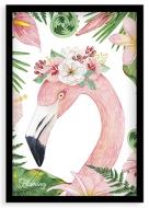 Plakat w ramce, Flaming - czarna ramka, 20x30 cm