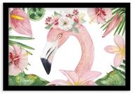Plakat w ramce, Flaming - czarna ramka, 30x20 cm
