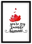 Plakat w ramce, Miłość - czarna ramka, 20x30 cm