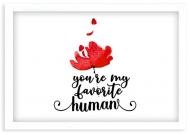 Plakat w ramce, Miłość - biała ramka, 30x20 cm