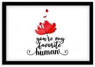Plakat w ramce, Miłość - czarna ramka, 30x20 cm