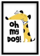 Plakat w ramce, My Dog - czarna ramka, 20x30 cm