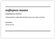 Plakat, Słownik - Najlepsza mama, 40x30 cm
