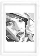 Plakat w ramce, Nowoczesny - biała ramka, 20x30 cm