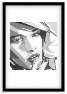Plakat w ramce, Nowoczesny - czarna ramka, 20x30 cm