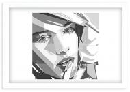 Plakat w ramce, Nowoczesny - biała ramka, 30x20 cm