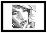 Plakat w ramce, Nowoczesny - czarna ramka, 30x20 cm