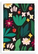 Plakat w ramce, Tropical - biała ramka, 20x30 cm