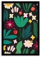 Plakat w ramce, Tropical - czarna ramka, 20x30 cm