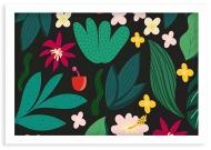 Plakat w ramce, Tropical - biała ramka, 30x20 cm