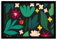 Plakat w ramce, Tropical - czarna ramka, 30x20 cm