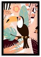 Plakat w ramce, Tukan - czarna ramka, 20x30 cm