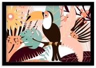 Plakat w ramce, Tukan - czarna ramka, 30x20 cm