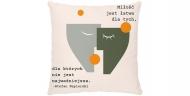 Poduszka, bawełna, Cytat Napierski, 25x25 cm