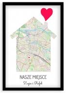 Plakat w ramce, Nasze miejsce Wrocław - czarna ramka, 20x30 cm