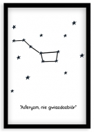 Plakat w ramce, Asteryzm, nie gwiazdozbiór, 20x30 cm