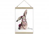 Obraz na sznurku, Bunny, 20x30 cm