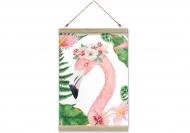 Obraz na sznurku, Flaming, 20x30 cm