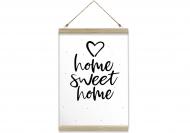 Obraz na sznurku, Home sweet home, 20x30 cm