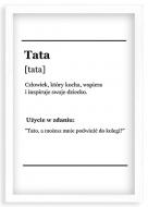 Plakat w ramce, Tata - biała ramka, 20x30 cm