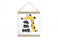Obraz na sznurku, My dog, 30x30 cm