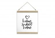 Obraz na sznurku, Home sweet home, 30x30 cm