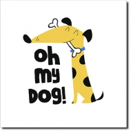 Obraz, My dog, 30x30 cm