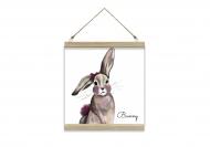 Obraz na sznurku, Bunny, 30x30 cm