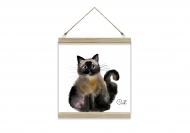 Obraz na sznurku, Cat, 30x30 cm