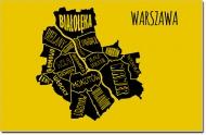 Obraz, Dzielnice Warszawy, 30x20 cm