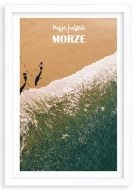 Plakat w ramce, Wakacje nad morzem - widok, 20x30 cm