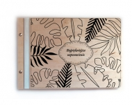 Album drewniany Liście, 34x23 cm
