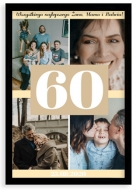 Plakat w ramce, Plakat na urodziny 60tka- czarna ramka, 20x30 cm