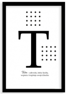 Plakat w ramce, Plakat typograficzny dla Taty- czarna ramka, 20x30 cm
