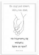Plakat w ramce, Cytat Schulz- biała ramka, 20x30 cm