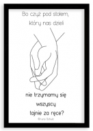 Plakat w ramce, Cytat Schulz- czarna ramka, 20x30 cm