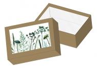 Pudełko kartonowe, Roślinne, 16x11 cm