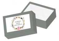 Pudełko kartonowe, Kwiaty, 15x11 cm